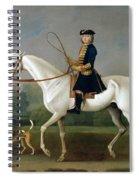 Sir Roger Burgoyne Riding 'badger' Spiral Notebook