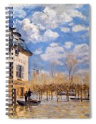 Sisley: Flood, 1876 Spiral Notebook