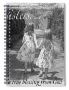 Sisters-black And White Spiral Notebook