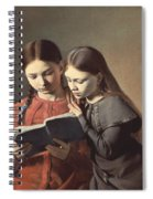 Sisters Reading A Book Spiral Notebook