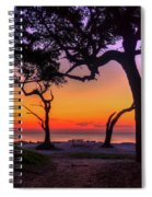 Sit With Me Driftwood Beach Sunrise Jekyll Island Georgia Spiral Notebook