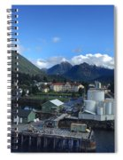 Sitka From The Waterfront Showing The Three Sisters In The Back 2015 Spiral Notebook