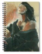 Sitted Woman Spiral Notebook