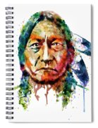 Sitting Bull Watercolor Painting Spiral Notebook