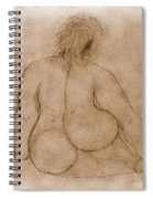 Sitting Fat Nude Woman Spiral Notebook