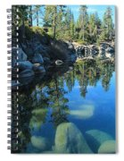 Sitting In Awe Of Her Surroundings Spiral Notebook