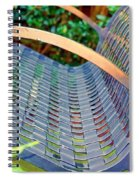Sitting On A Park Bench Spiral Notebook