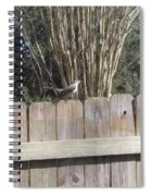 Sitting On A Fence  Spiral Notebook
