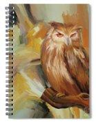 Sitting Owl Spiral Notebook