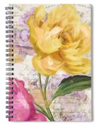 Sitting Pretty Peonies Spiral Notebook