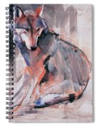 Sitting Wolf Spiral Notebook