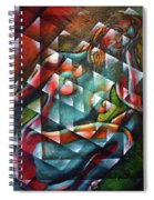 Sitting Woman Fixed In Motion Spiral Notebook