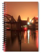 Siuslaw River Bridge At Night Spiral Notebook