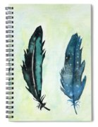 Six Feathers Spiral Notebook