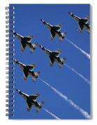 Six In Flight Spiral Notebook