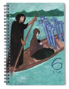 Six Of Swords Illustrated Spiral Notebook