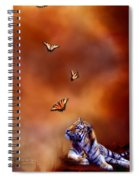 Six Wild Tigers Spiral Notebook