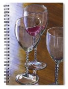 Six Wine Glasses Spiral Notebook