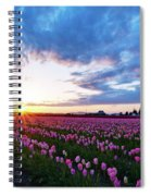 Skagit Floral Sunset Spiral Notebook