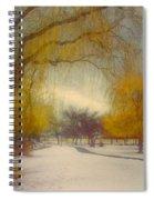 Skaha Path In Winter Spiral Notebook
