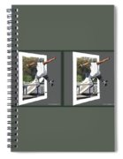 Skateboarder - Gently Cross Your Eyes And Focus On The Middle Image Spiral Notebook