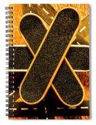 Skateboarding Star Spiral Notebook
