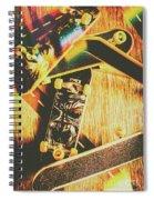 Skateboarding Tricks And Flips Spiral Notebook