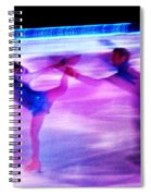 Skating Couple Abstract 2 Spiral Notebook