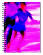 Skating Couple Abstract Spiral Notebook