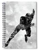 Skating Man-black Spiral Notebook