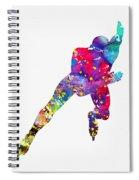 Skating Man-colorful Spiral Notebook