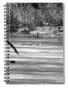 Skating On The Pond Spiral Notebook