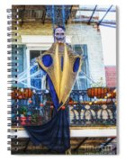 Skeleton Ghost Spiral Notebook