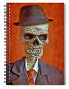Skeleton Man Spiral Notebook