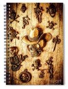 Skeleton Pendant Party Spiral Notebook