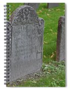 Skeleton Tombstone 1600s Spiral Notebook