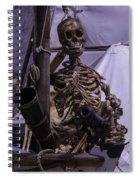 Skeleton With Bow Canon Spiral Notebook