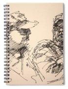 Sketch Men At Tims Spiral Notebook