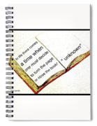 Sketch Of A Book With Quote Spiral Notebook
