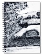 Sketch Of Country Scene Spiral Notebook