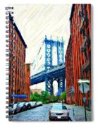 Sketch Of Dumbo Neighborhood In Brooklyn Spiral Notebook