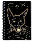 Sketch Of Fox By Kathy Barney Spiral Notebook