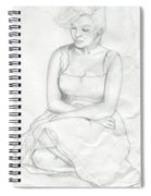 Sketch Of Marilyn Monroe Spiral Notebook