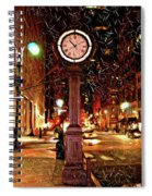 Sketch Of Midtown Clock In The Snow Spiral Notebook