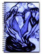 Sketch Of Statue In Blue Spiral Notebook