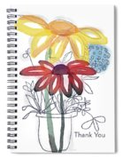 Sketchbook Flowers Thank You- Art By Linda Woods Spiral Notebook