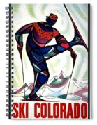 Ski Colorado, United States - Colorado Winter Sports - Retro Travel Poster - Vintage Poster Spiral Notebook