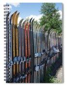 Ski Fence Spiral Notebook
