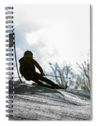 Ski Racer Backlit Spiral Notebook