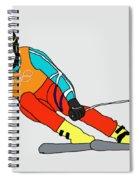 Skier Spiral Notebook